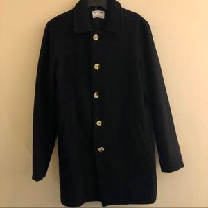Premium Black Wool Coat